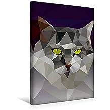 Premium Textil-Leinwand 30 cm x 45 cm hoch, Katze | Wandbild, Bild auf Keilrahmen, Fertigbild auf echter Leinwand, Leinwanddruck (CALVENDO Tiere)