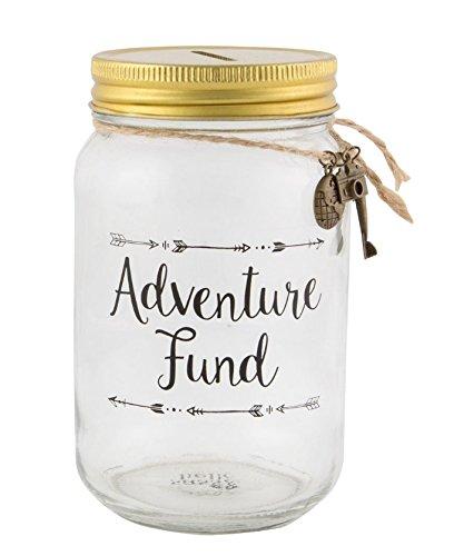 """prezzo Barattolo salvadanaio con scritta """"Adventure Fund"""" (ARI022)"""