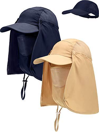 2 Stück Baumwolle Safari Hut Breiter Krempe Angeln Kappen Faltbare Boonie Hut Doppelseitige Outdoor Sonnenhut für Männer und Damen (Stil 4) (Kinder Safari-outfit Für)