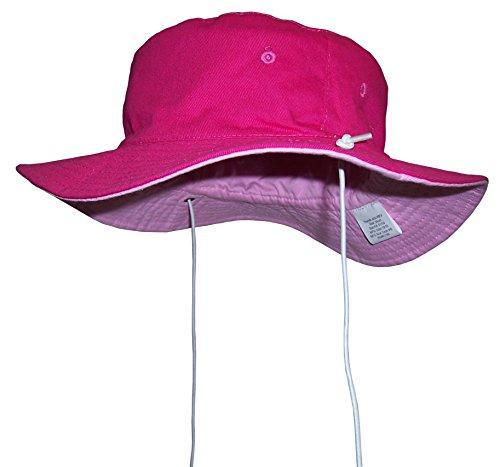N'Ice Caps Unisex Kids Reversible And Adjustable Cotton Twill Aussie Hat (54cm(21.25