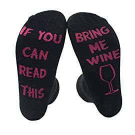 Himozoo Unisex Cotton Socks IF YOU CAN READ THIS BRING ME A BEER Socks