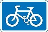 empfohlen Route für Pedal-Zyklen Road Safety Sign Schild aus Aluminium–3mm mit 2Streifen Ausgestattet zu hinten für die Montage auf Post 400mm x 600mm