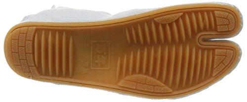 Chaussures de Ninja Semi-Montante Jikatabi (Nutsuke) 5 Clips Importe du Japon Blanc