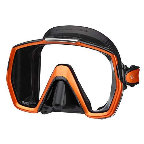 Tusa Freedom HD - Masque de Plongée, Grand, Noir/Orange