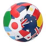 Woyisisi Bandera Nacional Patrón Juego al Aire Libre Entrenamiento # 5 Balón de fútbol 22 cm / 9 Pulgadas Deporte Partido Fútbol