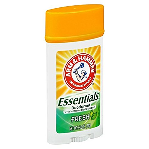 Arm & Hammer Deodorant Essentials Natural Deodorant, Fresh Scent 2.5 Oz (Pack of 6) by Arm & Hammer