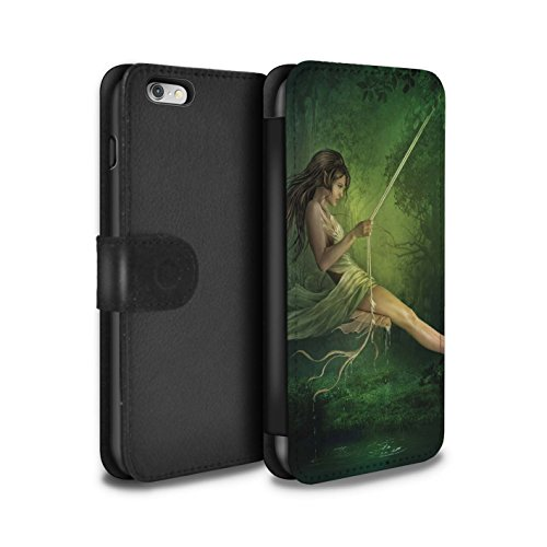 Officiel Elena Dudina Coque/Etui/Housse Cuir PU Case/Cover pour Apple iPhone 6S+/Plus / Fille de Lune Design / Un avec la Nature Collection Balançoire Étang
