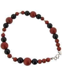 Earth - EB15RJBO - Bracelet Femme - Argent 925/1000 1.0 Gr - Jaspe/Onyx