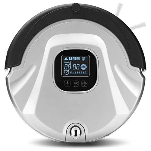 Lecc schermo lcd robot intelligente di auto-ricarica intelligente, telecomando intelligente design silenzioso robot, sensibile alla caduta, pulitore di moquette,silver