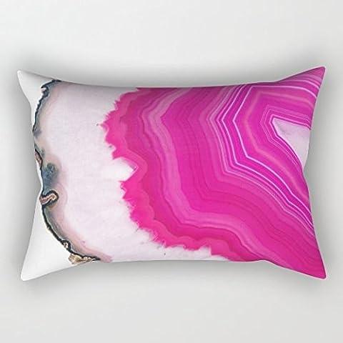 Cuscino rettangolare in agata rosa, 20x 30in - Ocean Agata