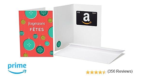 Carte Cadeau Amazonfr Dans Une Carte De Vœux