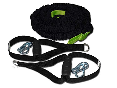 BodyCROSS TGS Bungee Tube Erweiterungsset | Expander Seile und Griffe für Rip Training | 2 Tubes (je 12 kg Zugkraft) und 2 Griffe | Studioqualität | Made in Germany