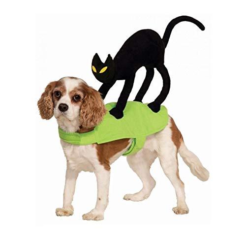 Hunde Rücken Kostüm Dem Auf Katze - 7°MR Hundekleidung Katze auf Meinem Rücken Hund Reiter Kostüm Kleidung Haustier Katze Kleidung für kleine mittlere Hunde (Color, Size : S)