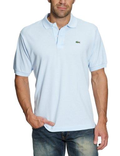 Lacoste Herren Regular Fit Poloshirt L1212 Einfarbig, Blau (L63 MINERAL), L (Herstellergröße: 5) (Reißverschluss Piqué-polo)
