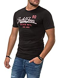 JACK   JONES Herren T-Shirt Jjelogo Tee Ss Crew Neck Two Col PS Noos 3048b853ea