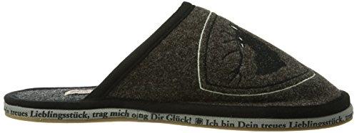 Adelheid Platzhirsch Filzpantoffel Mit Gummisohle, Pantofole Uomo Marrone (rindenbraun/307)