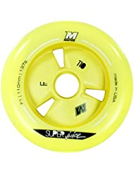 Matter 205077 Matter - Rueda (110 mm), color amarillo, pack de 8 unidades