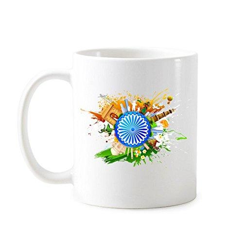 india-flavor-hinduism-religion-holy-wheel-and-taj-mahal-watercolor-classic-mug-white-pottery-ceramic