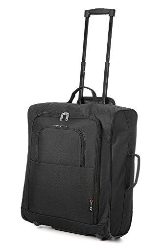 Easyjet, Jet2, Iberia y British Airways 56x45x25 máxima de la cabina de equipaje de mano Aprobado bolso de la carretilla, enorme capacidad 60L, (Negro) (Negro + Escala) (Negro + Escala)