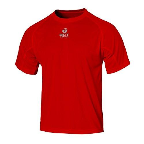 ACT SEVEN - Maillot d'entraînement réfléchissant pour Homme XL Rouge