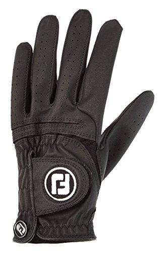 FootJoy WeatherSof - Guante para hombre, Diestro, se pone en la mano izquierda, color Negro, talla ML
