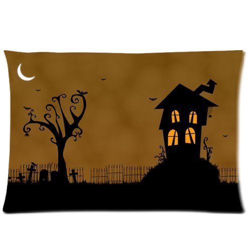 New Arrival Soft Cotton Bedding Pillowcase Happy Halloween Rectangle Pillow Slip 20x30inch