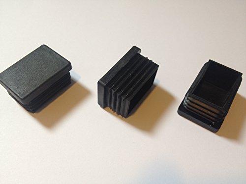 ( 4 Stück ) 60x30 mm (Aussen, WS: 1 - 3) Rohrstopfen / Stuhlstopfen / Gleiter / Kappe / Lamellenstopfen / SCHWARZ