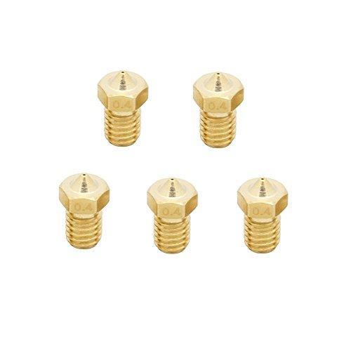 anycubic 0,4mm Brass Düse 3D Drucker Extruder für Chef M6männlich 1,75mm ABS und PLA Gewindeaufsätze Filament W900Kompatible