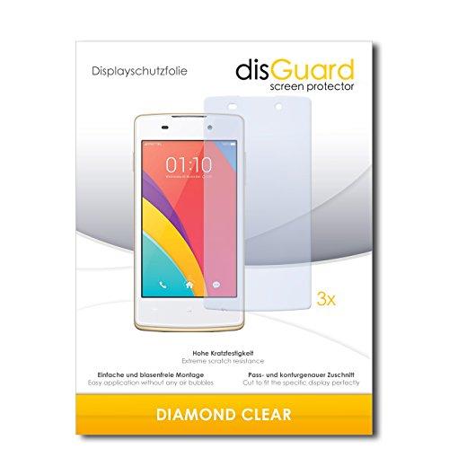 3 x disGuard® Schutzfolie Oppo Joy Plus Displayschutz Folie