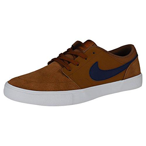 Nike Nike Sb Portmore Ii Solar Zapatillas, Hombre, (Lt British Tan/Blue Void/Black 001), 42.5 EU (8 UK)