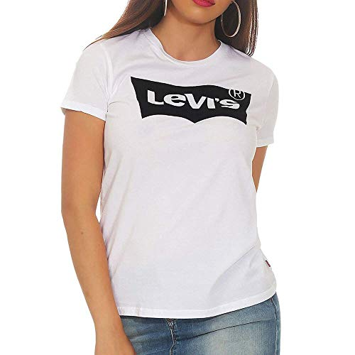 Levi's the tee, t-shirt donna, bianco (batwing), large