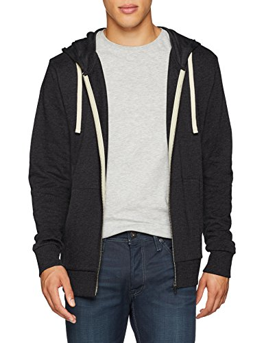 JACK & JONES Herren Jjeholmen Sweat Zip Hood Noos Sweatjacke, Grau (Dark Grey Fit:reg Fit-Melange), M
