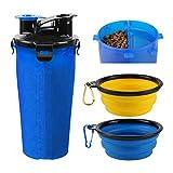 RCruning-EU Bottiglia d'Acqua per Cane Portatile Cani Gatto Animali,2 Silicone Ciotola Pieghevole per Cane Abbeveratoio Portatile in Silicone Alimentare Viaggio