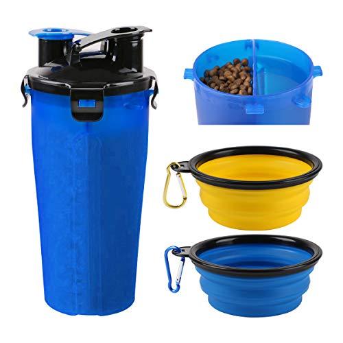 RCruning-EU Bottiglia d\'Acqua per Cane Portatile Cani Gatto Animali,2 Silicone Ciotola Pieghevole per Cane Abbeveratoio Portatile in Silicone Alimentare Viaggio