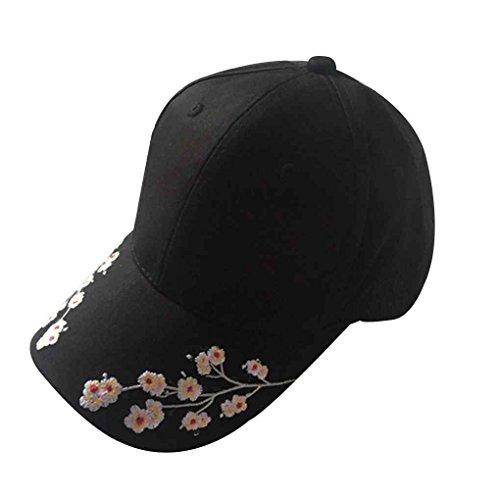 Bobury Chapeau brodé de Langue de Canard de Coton de Femme Chapeau de Baseball extérieur réglable