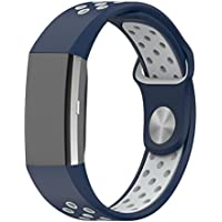 Fitbit Charge 2 Accessory Band, Soft Silicone Sport Replacement Strap Wristband with Quick Release for Sport Fitness Tracker Fitbit Charge 2 Heart Rate