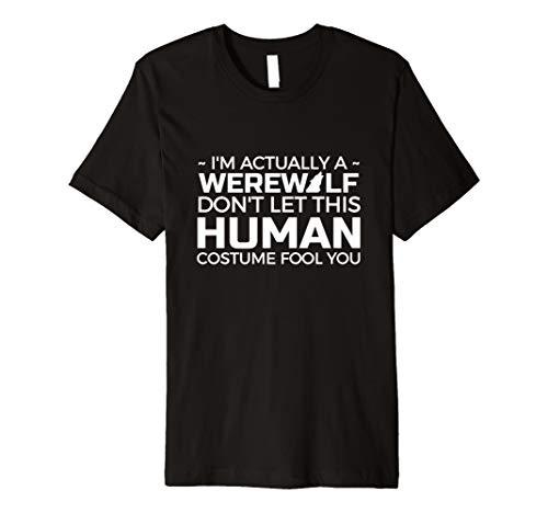 Ich bin eigentlich ein Werwolf lustiges Halloween-Kostüm Tshirt