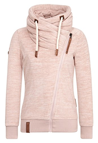 Naketano Female Zipped Jacket Jüberagend Dusty Pink Melange, XL
