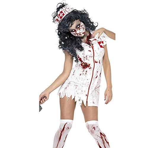 SimonX Halloween Kostüm M, XL Adult Ragged Sexy Scary Mummy Kostüme Blut Sexy Krankenschwester Kostüme Für Frauen Cosplay Zombie Kostüme m - Beängstigend Krankenschwester Kostüm