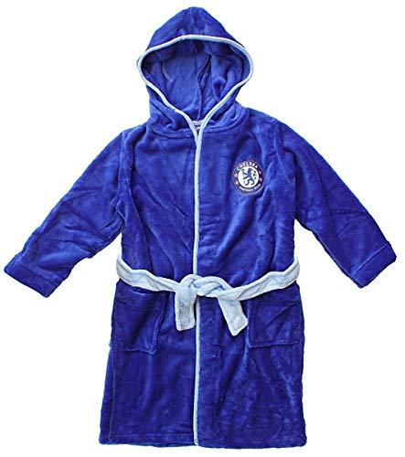 Jungen Offiziell Chelsea CFC Fleece mit Kapuze Bademantel Bademantel Größen von 3 bis 12 Jahre - Blau, 3-4 years