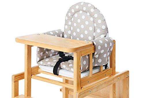 Pinolino 58448-8S Sitzverkleinerer für Kombi-Hochstühle \'Punkte\', Stoff, grau