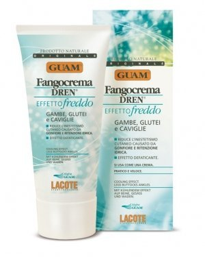 Guam Fangocrema Dren Active Mud Cream for Legs 200ml by Guam