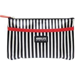 Absolute New York acb14-Trousse-Black e White Stripes Satin, confezione da 1(1x 1pezzo)