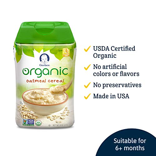 Gerber Baby Cereal, Organic Oatmeal, 8 Ounce by Gerber Baby Cereal
