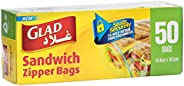 Glad Zipper Sandwich Bags - 50 Count