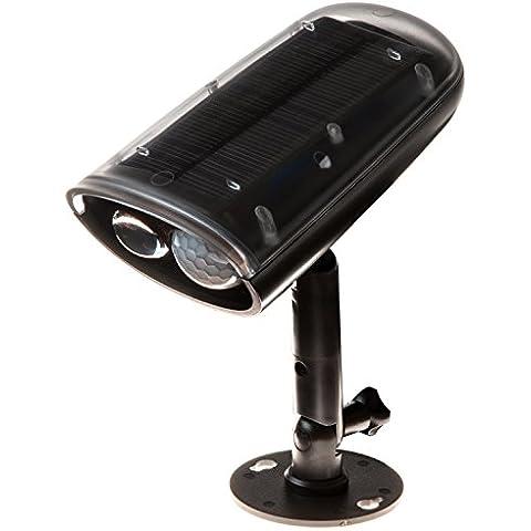 Lychee 250 lumen di 3W LED luminoso solare della luce alimentata con luce della lampada PIR del sensore di movimento di induzione impermeabile IP66 Nightlight Per esterni Scala Veranda Giardino Patio Yard Unità Way illuminazione (Bianco)