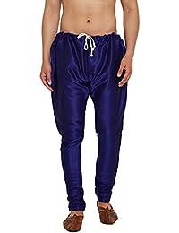 Sojanya (Since 1958), Men's Royal Blue Silk Blend Churidar Pyjama, Size: FreeSize