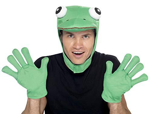 Froschhut Frosch Set Hut M�tze mit Handschuhen zum ()