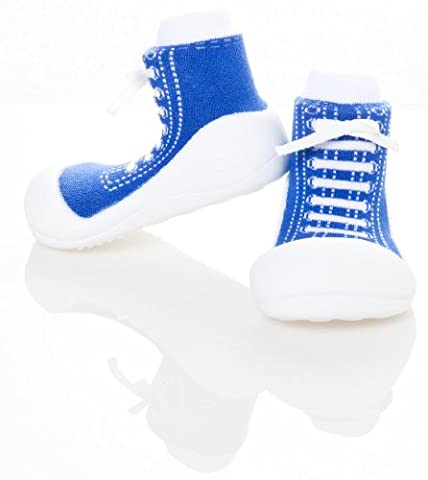 Bébé fille et garçon de première Walker Chaussures pour Enfant ergonomique (soutien Extra Large (135mm) Taille UK 5,5, bleu)