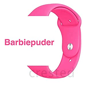 Armband für Apple Watch in Barbiepuder 38/40mm passend für Apple Watch 1 2 3 4 5